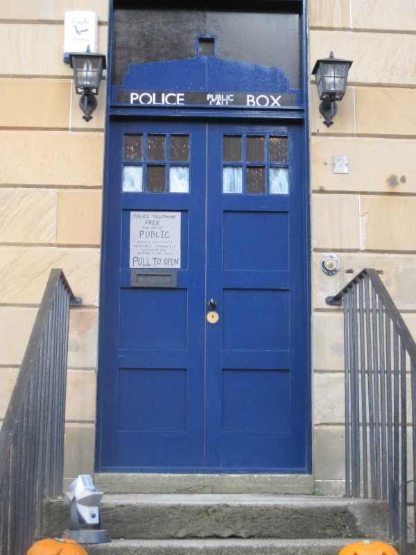 2009 Scotland Glasgow Quinn Halloween Tardis Door Jpg & Amazing Tardis Blue Front Door Contemporary - Ideas house design ...